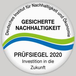 Prüfsiegel für gesicherte Nachhaltigkeit 2020
